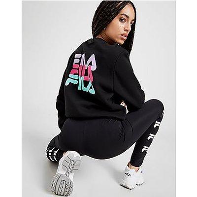 Fila Repeat Back Logo Sweatshirt - Black/Multi - Womens, Black/Multi