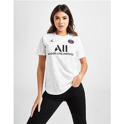 Jordan Paris Saint Germain Pre Match Shirt - White/White/White/Black - White/White/White/Black | JORDAN SALE