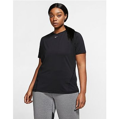 Nike Plus Size Pro T-Shirt - Black/White, Black/White | NIKE SALE