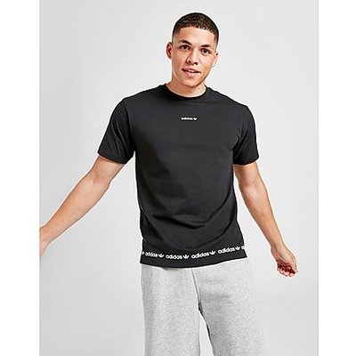 adidas Originals Linear Logo Repeat T-Shirt - Black - Black | ADIDAS SALE