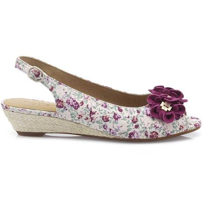 Betsy Sandals - Boysenberry Floral - Wide Fit
