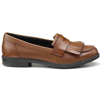 Devon Shoes - Dark Tan - Wide Fit