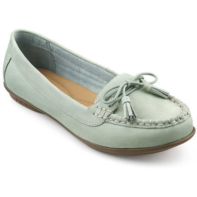 Honiton Shoes - Vintage Green - Wide Fit