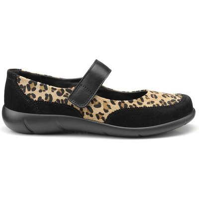 Hope Shoes - Black / Leopard - Wide Fit