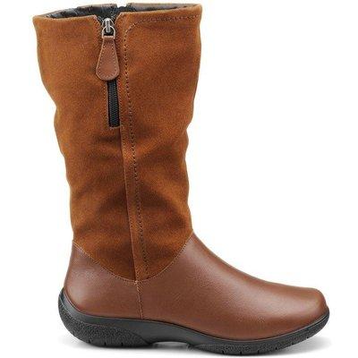 Matilda Boots - Dark Tan - Wide Fit