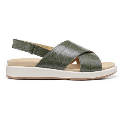 Pace Sandals - Black Croc - Wide Fit