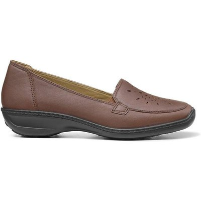 Topaz Shoes - Dark Tan - Wide Fit