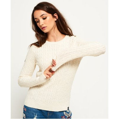 SUPERDRY Superdry Croyde Pullover mit Zopfmuster