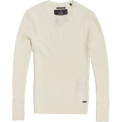 SUPERDRY Superdry Luxe Mini Pullover mit Zopfmuster