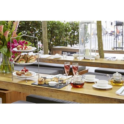 Vegan Afternoon Tea with Bottomless Non-Alcoholic Fizz for Two at La Suite West