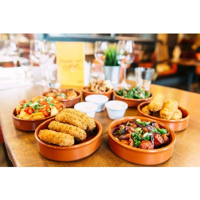 Tapas Dining Experience with Sangria to Share and Samba Performance for Two at Gabeto