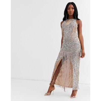 A Star Is Born fringe embellished maxi dress-Multi