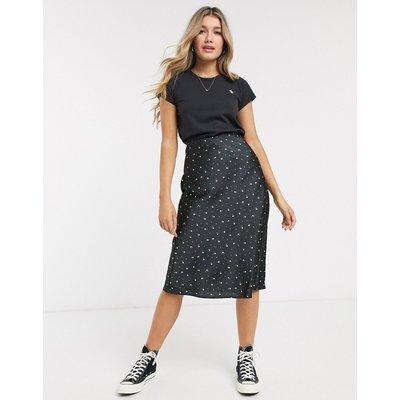 Abercrombie & Fitch satin floral midi skirt-Multi