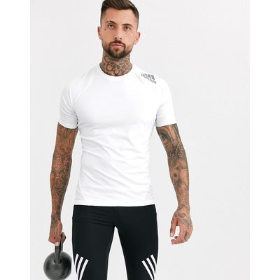 adidas – Alphaskin Sport – Weißes Trainings-T-Shirt