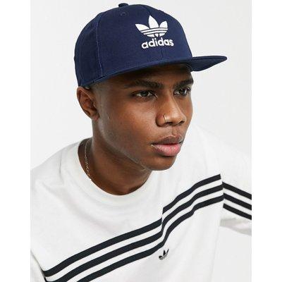 adidas – Blaue Snapback-Kappe mit Dreiblatt-Logo