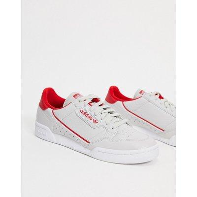 adidas Originals – Continental 80 – Sneaker in Grau, Scharlachrot und Weiß