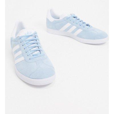 adidas Originals – Gazelle – Sneaker in Weiß-Blau