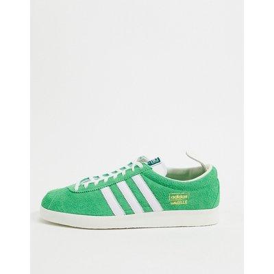 adidas Originals – Gazelle – Vintage-Sneaker in Limettengrün und Weiß