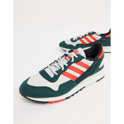 adidas Originals – Lowertree – Sneaker in Grün, Kirschrot und Grau-Mehrfarbig