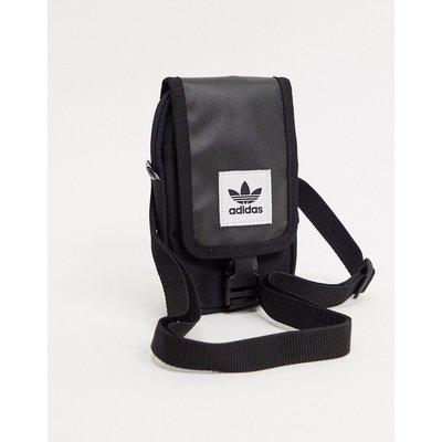 adidas Originals – Map – Schwarze Umhängetasche