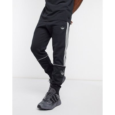 adidas Originals – Outline – Schwarze Jogginghose