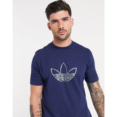 adidas Originals – Outline – T-Shirt in Indigonachtblau
