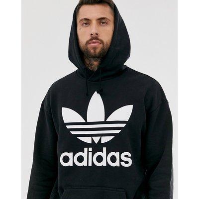 adidas Originals – Oversize-Kapuzenpullover mit Trefoil-Logo-Schwarz