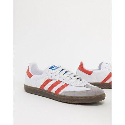 adidas Originals – Samba OG – Sneaker in Weiß und Scharlachrot