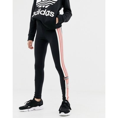 adidas Originals – Schwarze Leggings mit Vintage-Logo und drei Streifen