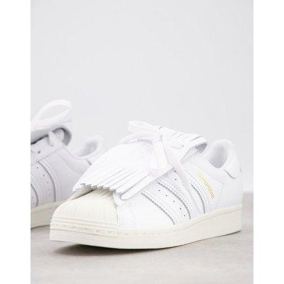 adidas Originals – Superstars – Sneaker mit Fransen-Weiß | ADIDAS SALE
