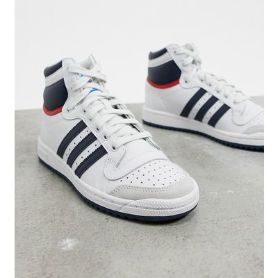 adidas Originals – Top Ten – Hohe Sneaker in Weiß, Marine & College-Rot