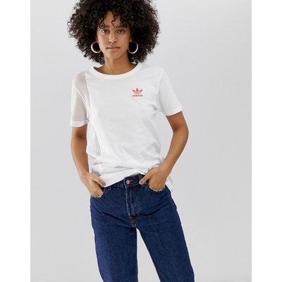 adidas Originals – Weißes T-Shirt mit Logo