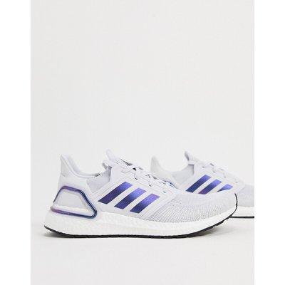 adidas – Ultraboost 20 – Sneaker in Grau Boost, Blauviolett und Schwarz