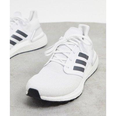adidas – Ultraboost 20 – Sneaker in Nacht-Weiß und Dash-Grau