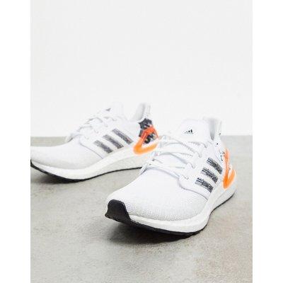 adidas – Ultraboost 20 – Sneaker in Weiß, Schwarz & leuchtender Koralle