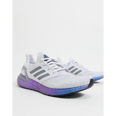 adidas – Ultraboost – Sneaker in Dash-Grau & Boost-Blau-Violett