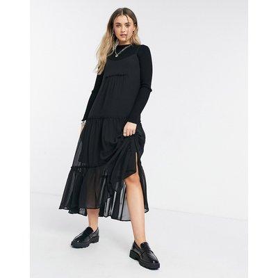 AllSaints midi dress in black