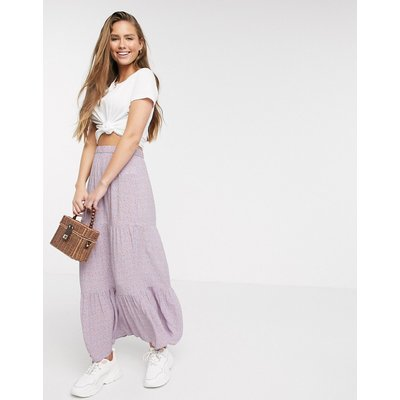 American Eagle tiered floral maxi skirt in lilac-Purple