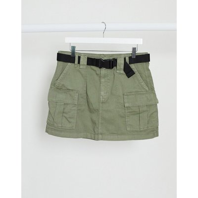 American Eagle utility A-line skirt in olive-Green