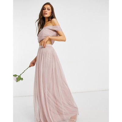 Anaya With Love Bridesmaid tulle maxi skirt co ord in pink