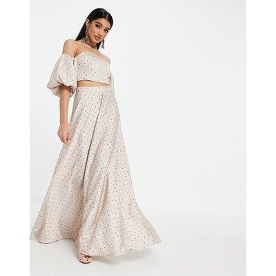 ASOS DESIGN Lehenga full maxi skirt in spot print-Multi