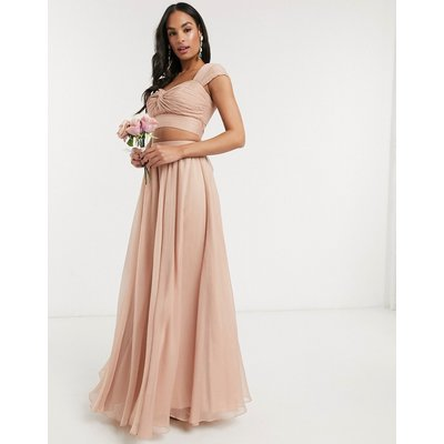 ASOS DESIGN soft maxi skirt co-ord-Pink