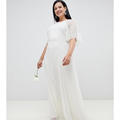 ASOS EDITION Curve deco embellished wedding dress-White
