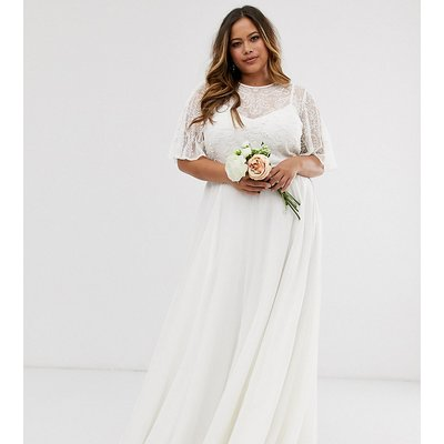 ASOS EDITION Curve embellished bodice wedding dress-White