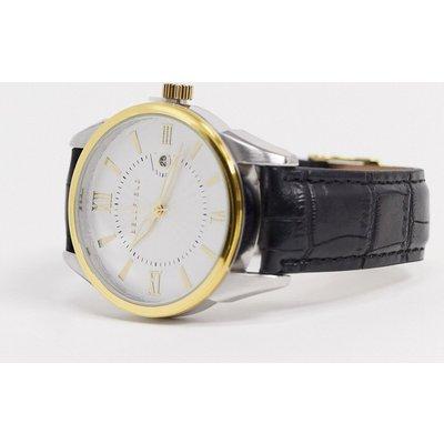 Bellfield Mens – Uhr mit Armband in Kroko-Schwarz-Mehrfarbig