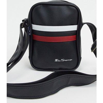 Ben Sherman – Pilotentasche mit Streifen in Schwarz, Weiß und Rot