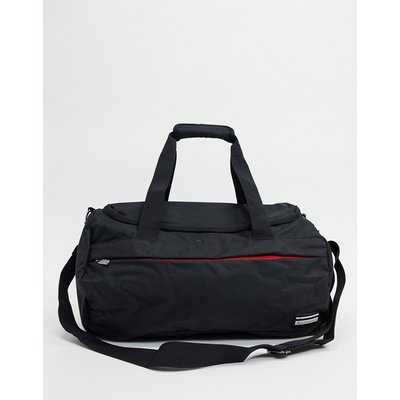 Ben Sherman – Sporttasche in Schwarz mit Rot