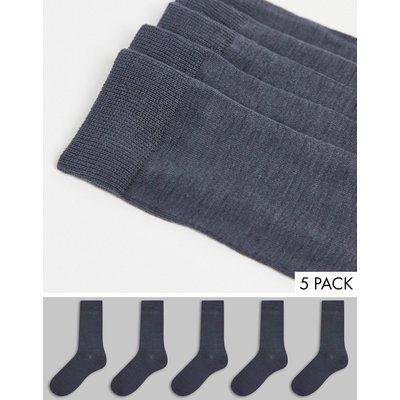 Brave Soul – 5er-Set Socken in Schwarz   BRAVE SOUL SALE