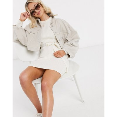Brave Soul – Edison – Pulloverkleid mit Schnürung-Cremeweiß