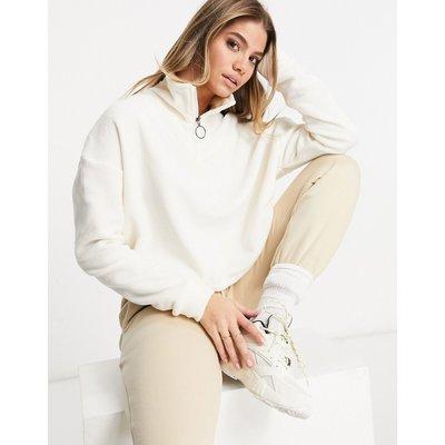 Brave Soul – Fleece-Pullover mit Reißverschluss-Creme